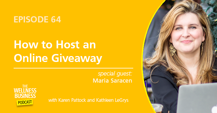 Episode 64 – How To Host An Online Giveaway with Maria Saracen